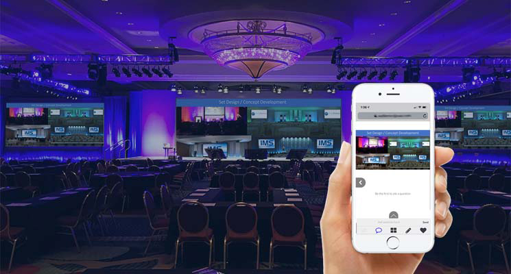 IMS Second Screen Technology for Meetings and Events