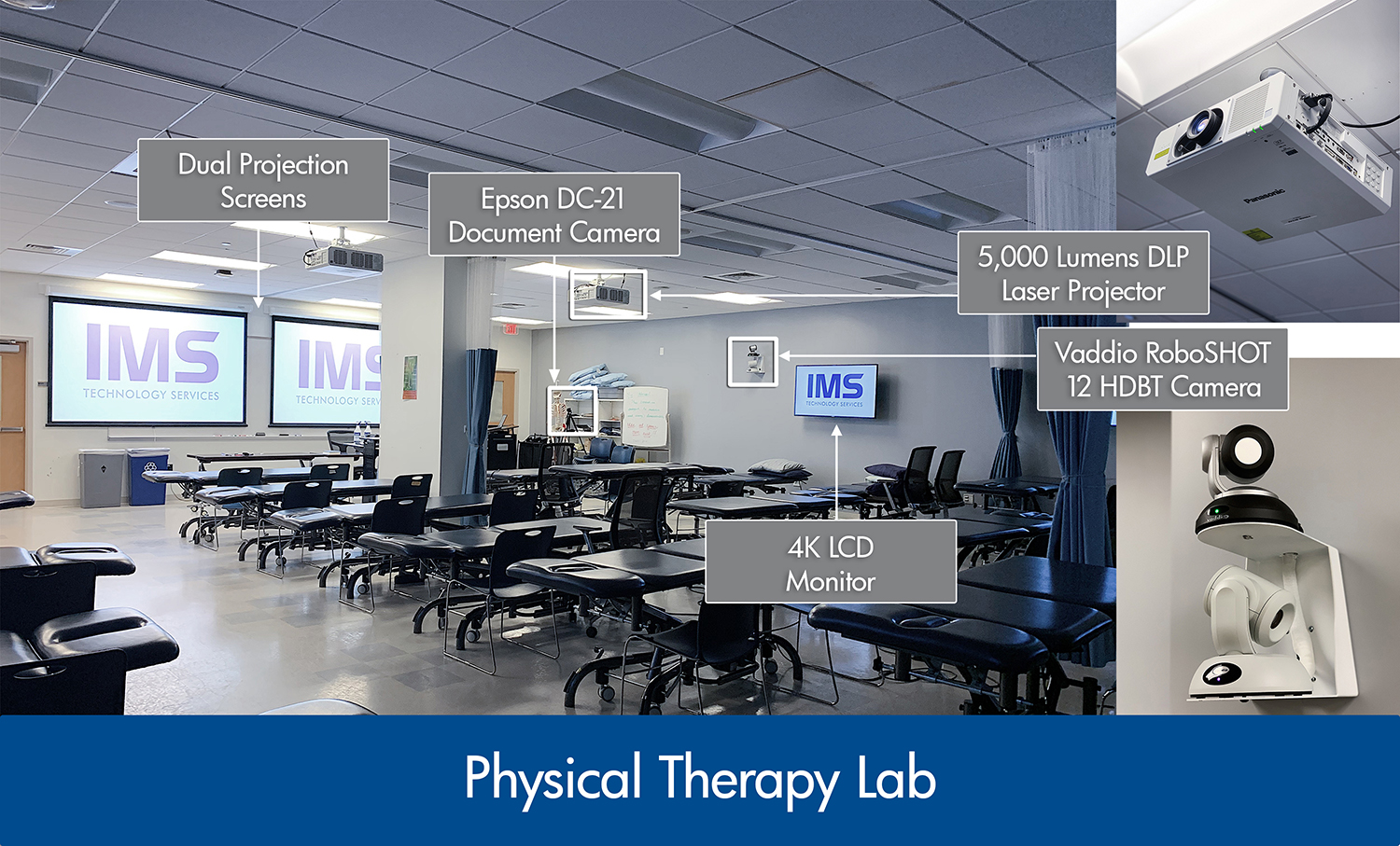 Systems integration in physical therapy lab