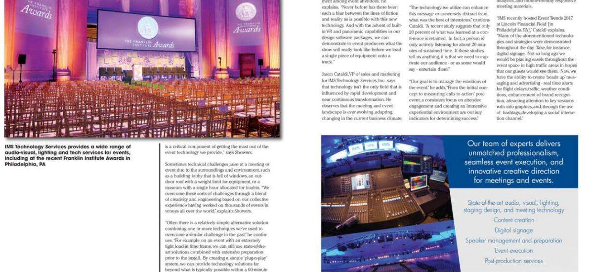 IMS in September-October 2017 Issue of Mid-Atlantic Events Magazine