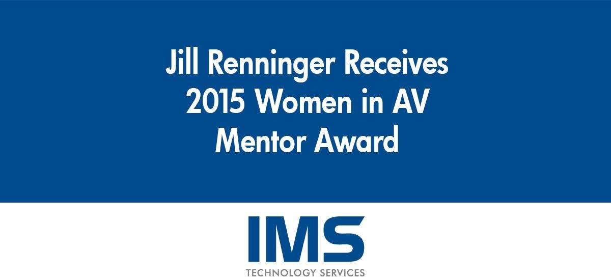 Jill Renninger Receives 2015 Women in AV (WAVE) Mentor Award
